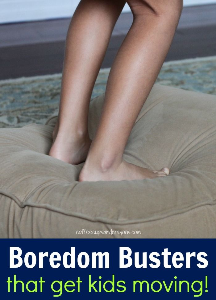 If you are looking for a fun indoor activity then they will love these boredom busters that get kids moving!