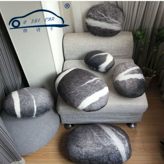 Outdoor Cushion Living Stones Backrest Colorful Country Road Pebble Case of Lumbar support Floor Case of Cushion Room Decors * Click the VISIT button for detailed description