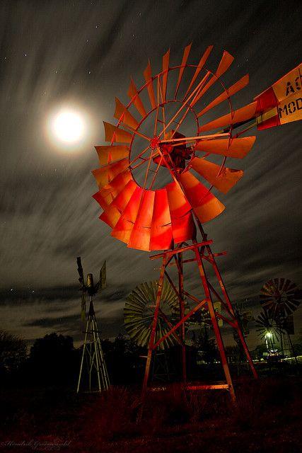 Bad moon rising ©Hendrik Groenewald  Loeriesfontein, Wind mill museum, Northern Cape, South Africa