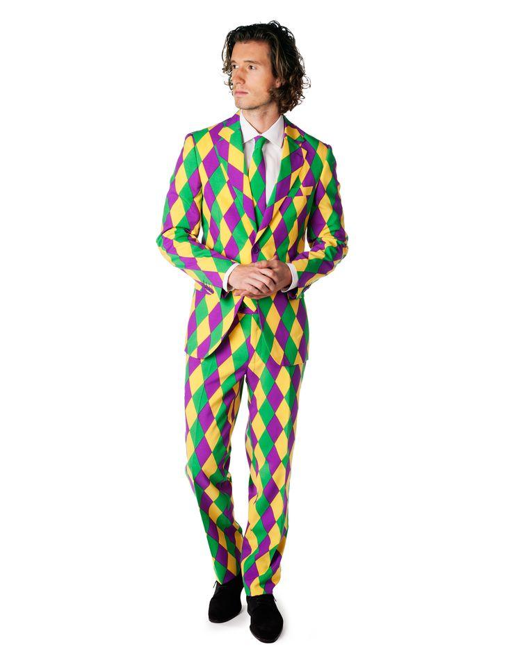 Traje Sr Arlequín hombre Opposuits™: Este traje de Sr. Arlequín para hombre es de la marcaOpposuits™. Incluye chaqueta, corbata y pantalón (camisa y zapatos no incluidos). El traje es de tejido de buena calidad...