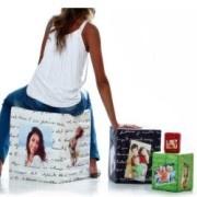 Cubo in tessuto personalizzabile con foto