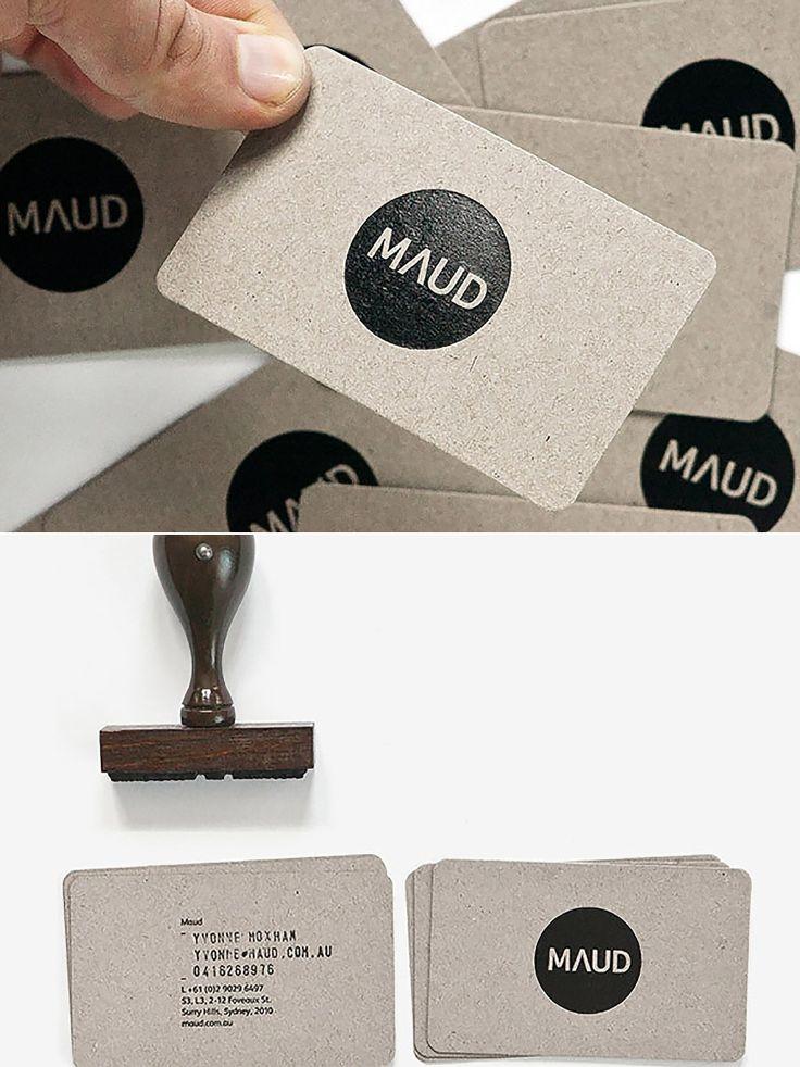 Idéia para Cartão de visita feito à mão com carimbo e papel paraná.