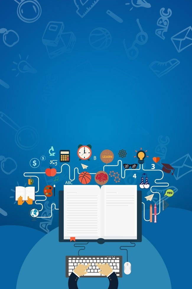 Komputer Latihan Papan Pameran Latar Belakang In 2021   Poster Background  Design, School Posters, Education Poster
