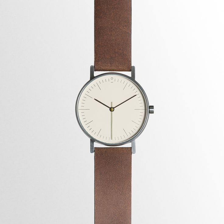 Stock S001B Simple Face Leather Strap Analog Watch - $200 AUD