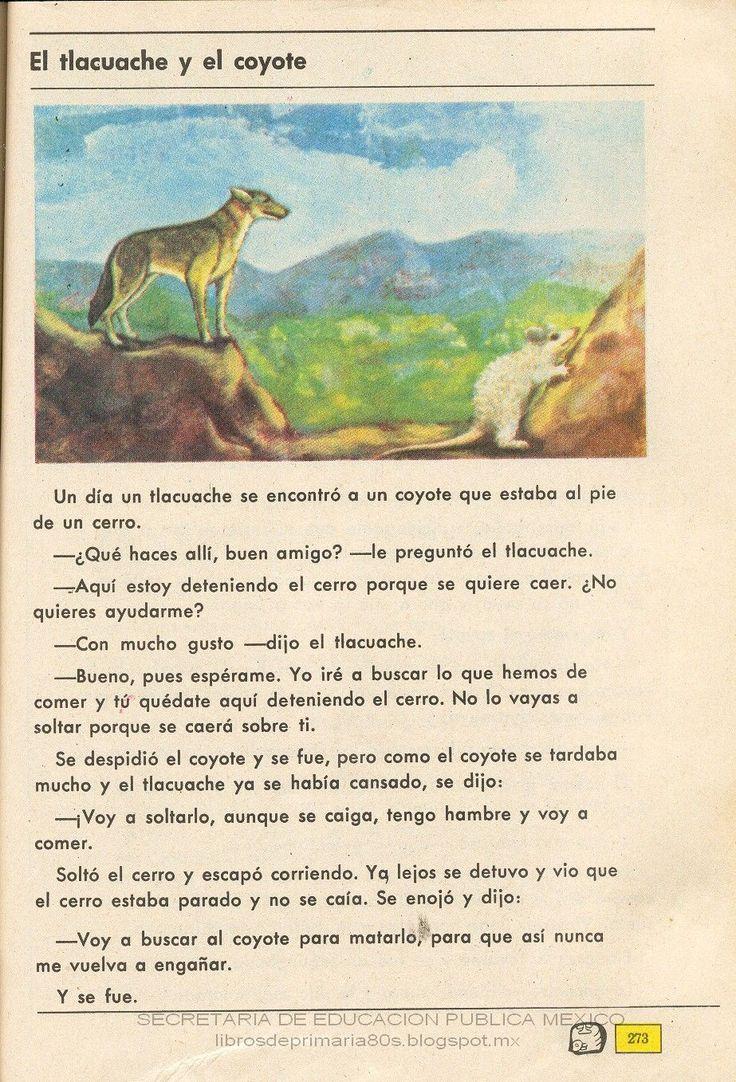 Libros de Primaria de los 80's: El tlacuache y el coyote - Español Ej. y Lec. 4to ...