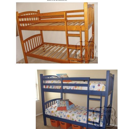 17 Best Ideas About Painted Bunk Beds On Pinterest