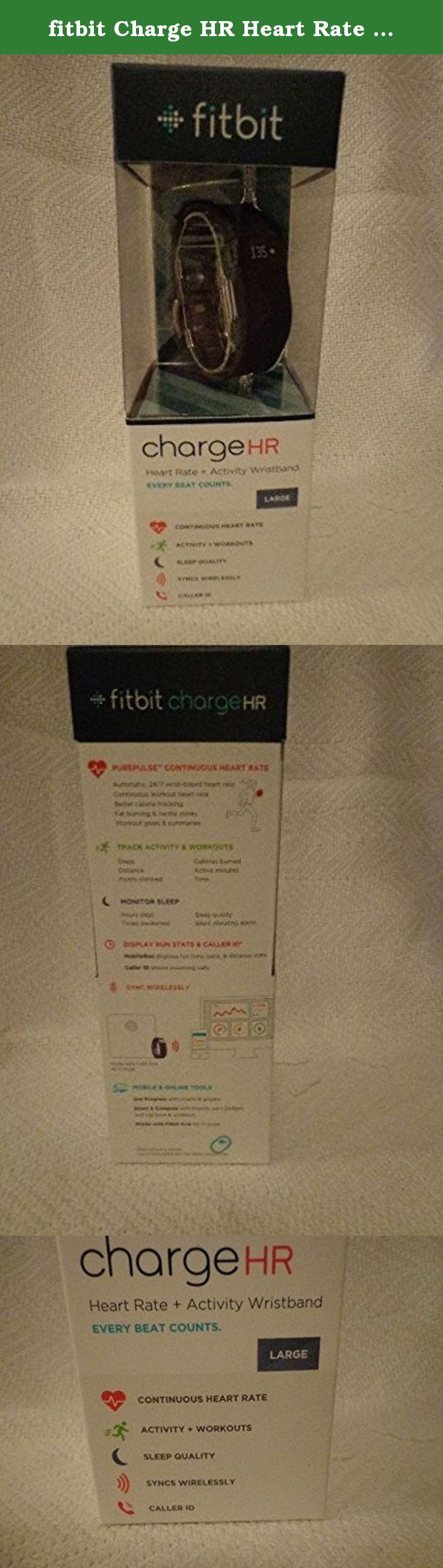 fitbit Charge HR Heart Rate + Activity Wristband - Black Size Large. Fitbit Charge HRBlack Size LargeRetail $149.95+tax Heart Rate+Activity WristbandTracks continuous heard rate, all-dayactivity state and sleep. Includes Caller ID. Worldwide Shippingcombined shipping availablewill ship out as soon as payment madeonly ship to address on Paypal accountcheck out my other listings Thanks & Good Luck!! All my items are 100% Authentic or money back! I purchase my items from high-end department...