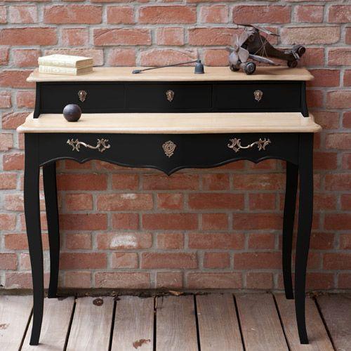 Bureau en bois 4 tiroirs Pauline Noir