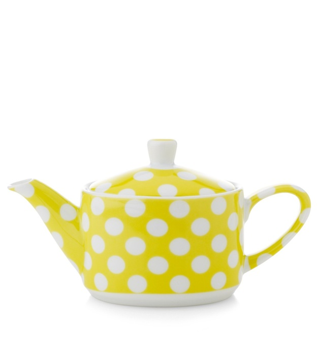 Yellow polka dot tea pot / Yedi Houseware