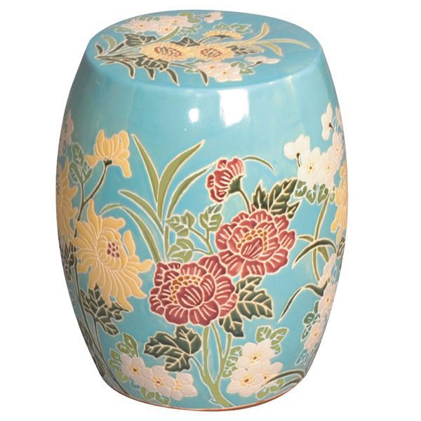Beautiful Japanese Ceramic Garden Stool