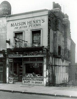 Shop, 529 Roman Road, early 1950s. My Dad worked in a radio shop before the war and became partners with the chap who owned it.  Eventually he retired and Dad bought out his share.  I imagine this shop is very like what that shop would have looked like.