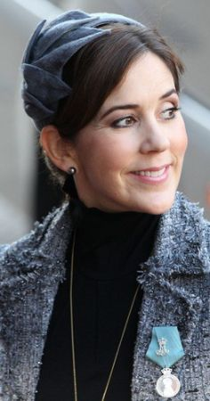 Posted on 10-30-13 by HatQueen...In the Calot Hat....Crown Princess Mary, Jan 15, 2012  | The Royal Hats Blog