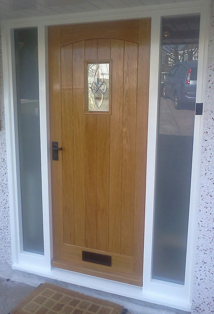 268 best images about front door for 1930s house with side panels on pinterest for Exterior doors with side panels