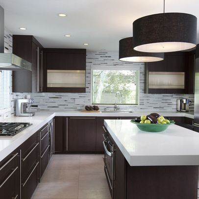 Love these lights. Modern Kitchen Design Ideas, Pictures, Remodel and Decor