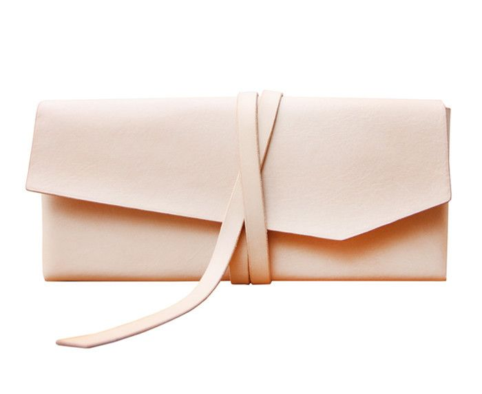 Loess leather wrap clutch - DSHOP