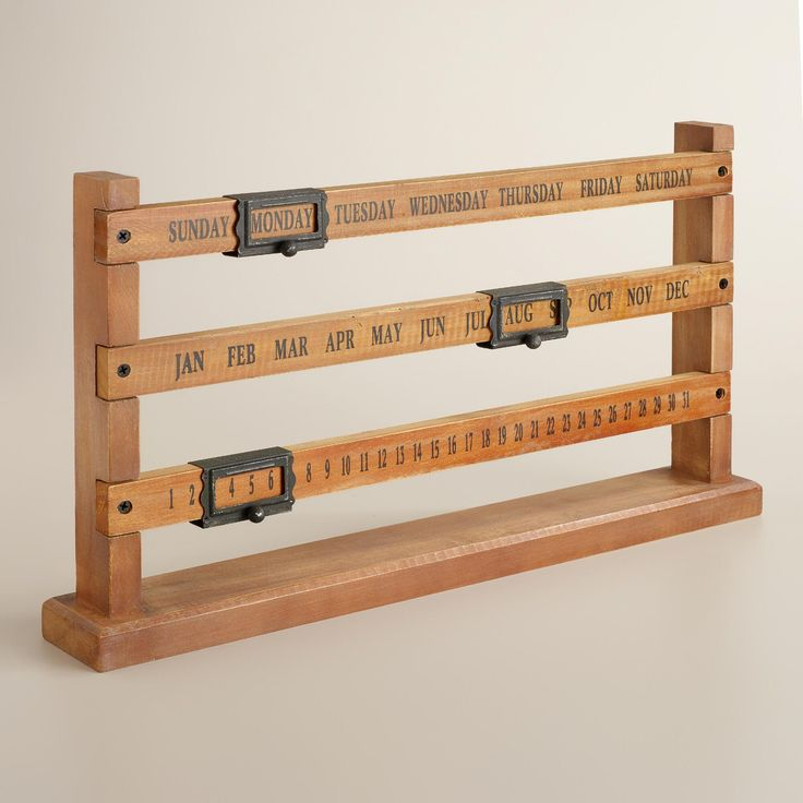 Wood and Metal Sliding Calendar | World Market