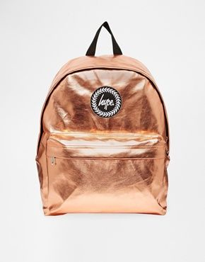 Hype metallic backpack in bronze