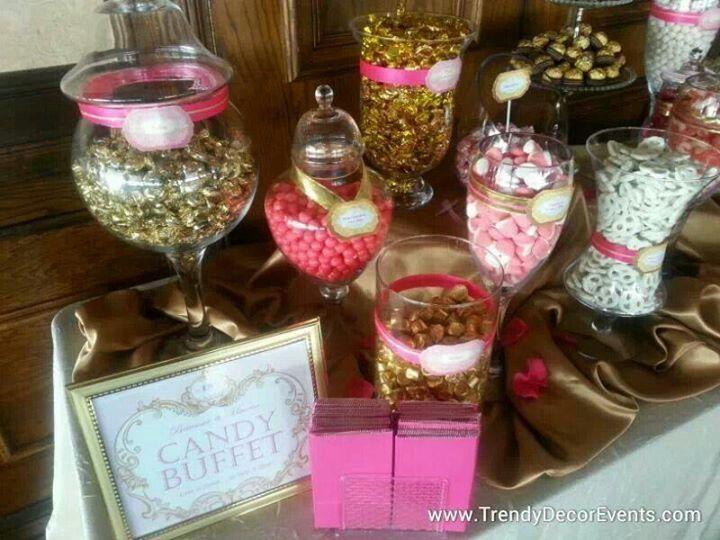 Elegant Candy Buffet Station