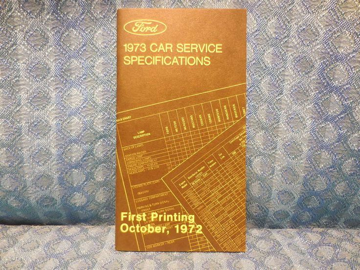 1973 Ford Lincoln Mercury Original Car Service Specifications Booklet Mustang #Ford