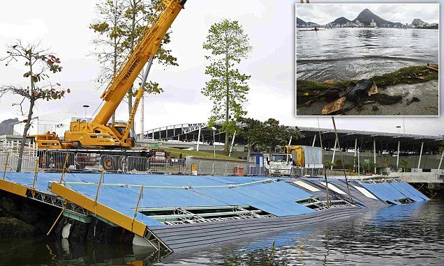 Rio sailing boat ramp collapses a week before Olympic racing starts