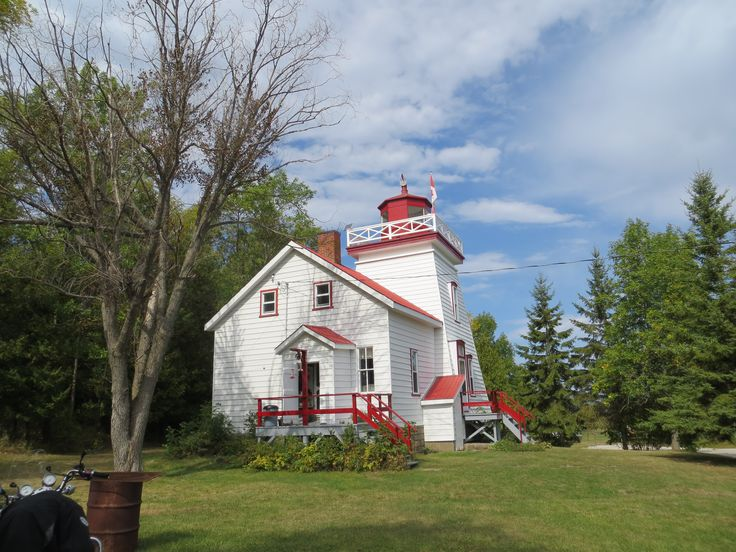 Janet Head Lighthouse in Gore Bay, Manitoulin Island, Ontario, Canada