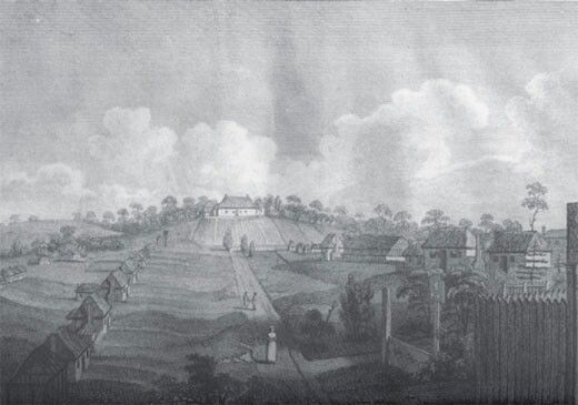 Governor Arthur Phillip's cottage in Parramatta in the 1790s.A♥W