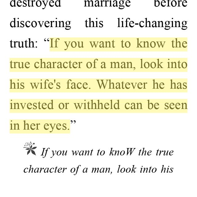 "Wow.. Just received this in a text from a friend...from the book ""preparing him for the other woman"""