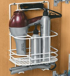 Store All Of Your Hair Care Supplies In One Place With This Hair Care Rack.