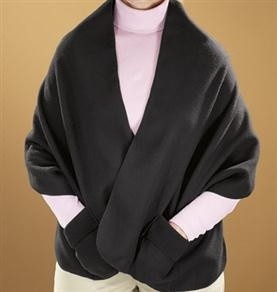 Polar Fleece Shawl - for nursing home/elderly - reviews said it was too short in the back