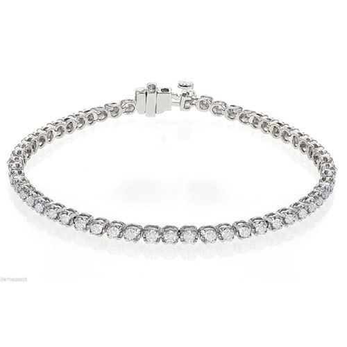 Diamant Armband aus 585er Weißgold mit 2.20 Karat Diamanten - Diamant Armband ist für nur 3300.00 Euro bei www.juwelierhausabt.de erhältlich.