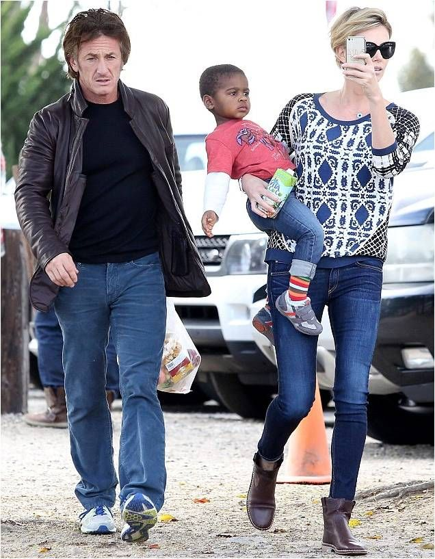 Jackson Theron, son of Charlize Theron, in Junk Food x Gap www.junkfoodclothing.com #junkfoodtees