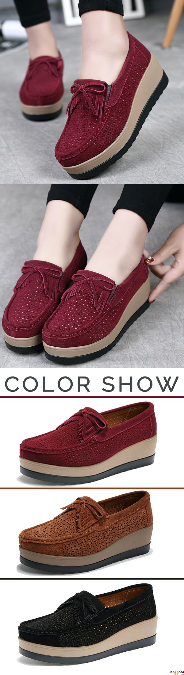 US$37.86 + Free shipping. Hollow Out High Heel Casual Comfy Platforms Women Shoes. Comfy and chic. You may need one pair for daily wear. Shop at banggood now.