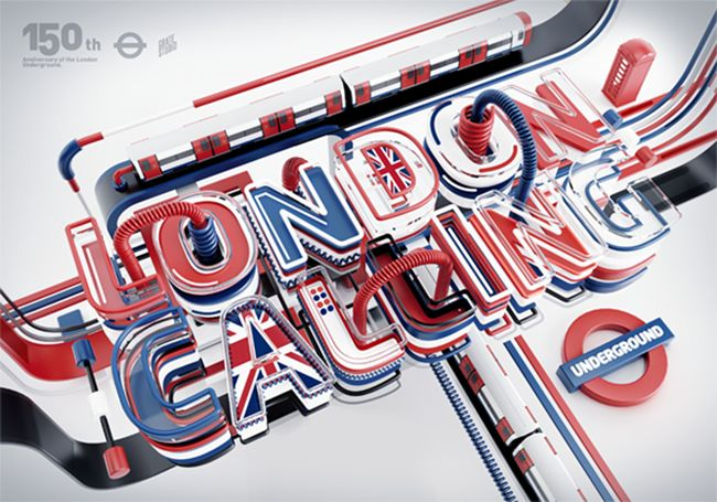 Typography, London Calling, 3D Typography
