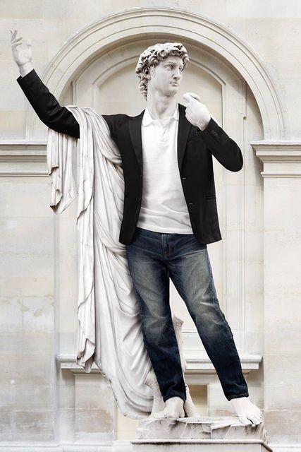 Hipster in Stone XVII - David HD by Léo Caillard (2014)