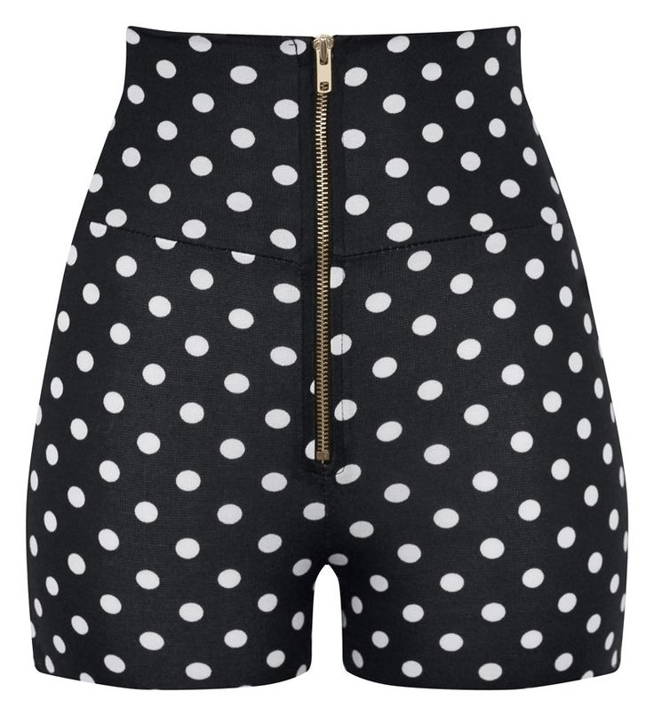 These super cute pinup/retro style polka dot shorts are just divine! Pair them with one of our crop tops and your good to go. Super stretchy fabrication makes these high waisted shorts a perfect fit.