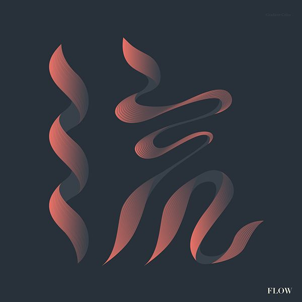 流 Flow-Chinese calligraphy / typography on Behance