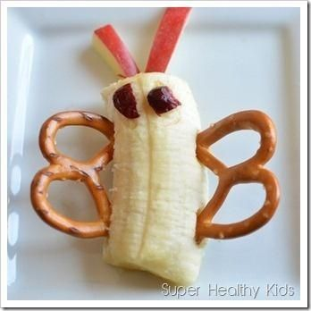 Banana butterfly and other fun bug-shaped kids snacks!