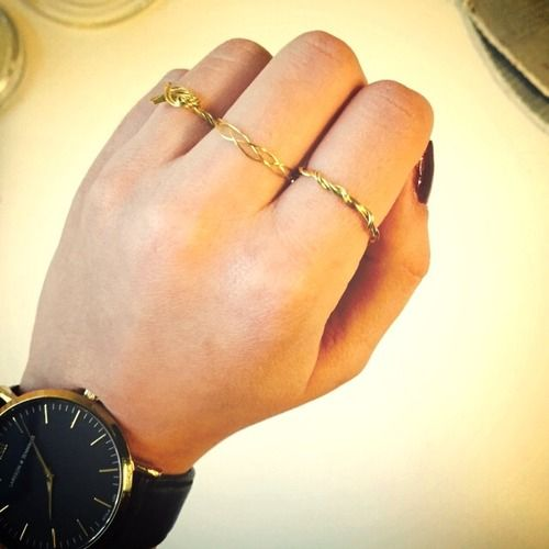 DIY Golden rings