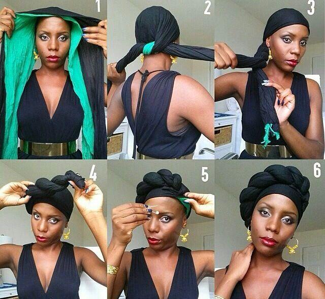 Tuto scarf hair