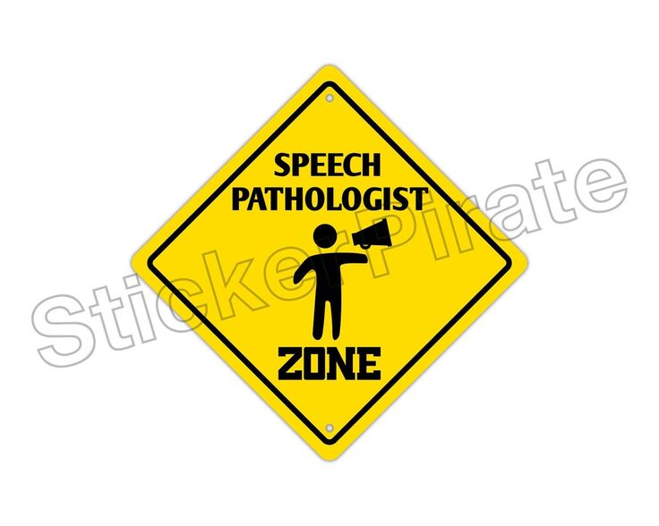 "Aluminum Speech Pathologist Zone Funny Metal Novelty Sign 12""X12"""