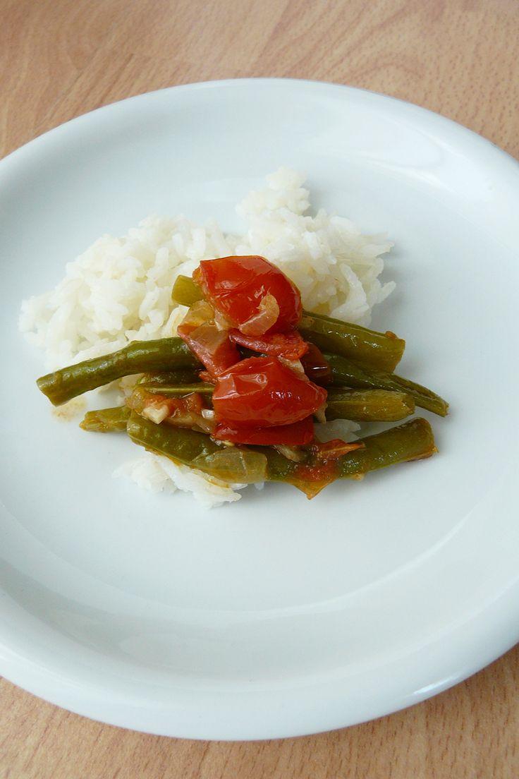 Francia zöldbab rizzsel