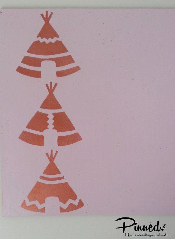 Teepee design pinboard hand painted cork board memo by pinnednz #pinboard #corkboard #girlsbedroom #teepee #copper http://binaryoptions360review.com/