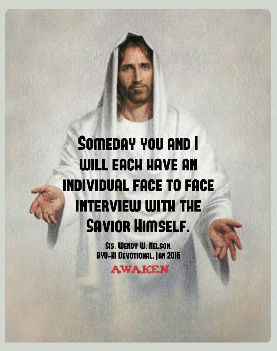 Face to face with the Savior