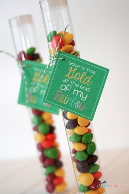 Free printable - St. Patrick's Day or rainbow theme favor tag