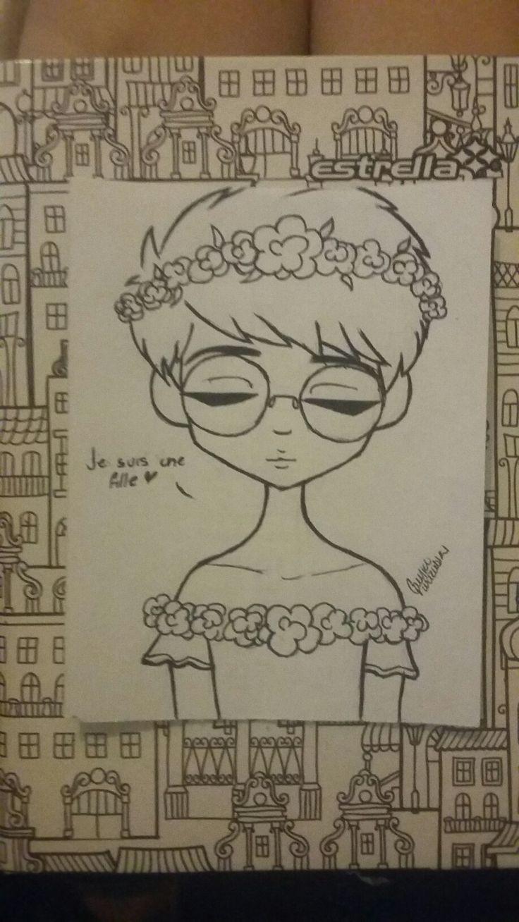 Je suis una fille❤ Yo soy una chica ❤ Dibujo Animación?