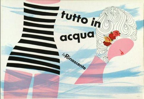 By Lora Lamm (born 1928), 1955, Tutto in acqua, La Rinascente. (I)