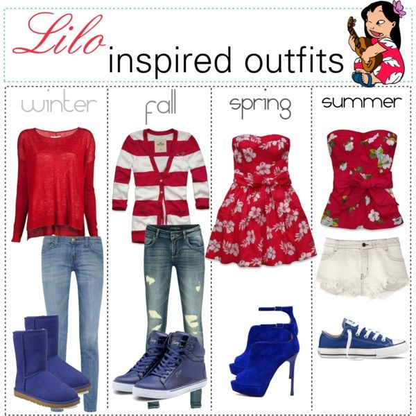 """Lilo inspired outfits :)"" by shannonstyles on Polyvore"