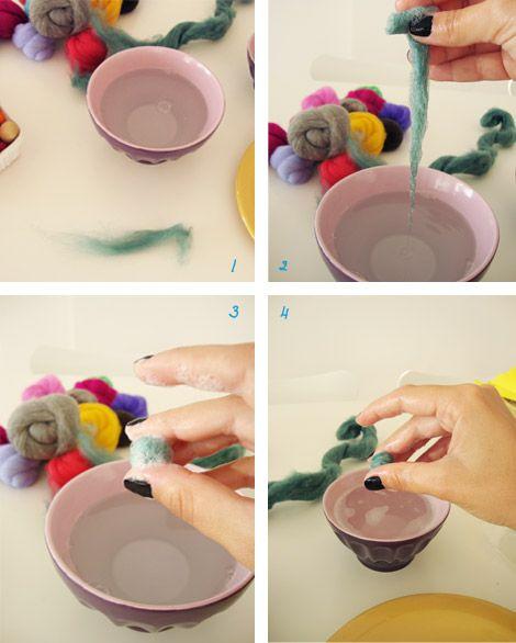 Cómo hacer bolitas de fieltro