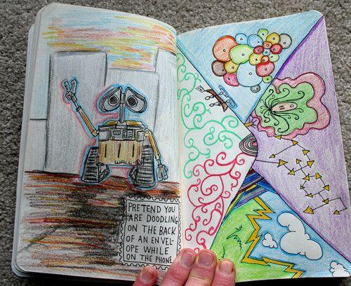 Cute sketchbook idea