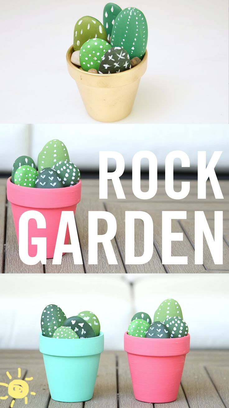 If your toddler stockpiles rocks like mine does then these adorable faux succulent gardens are the perfect use for them!